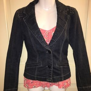 CAbi Jean Jacket with Pockets size Small